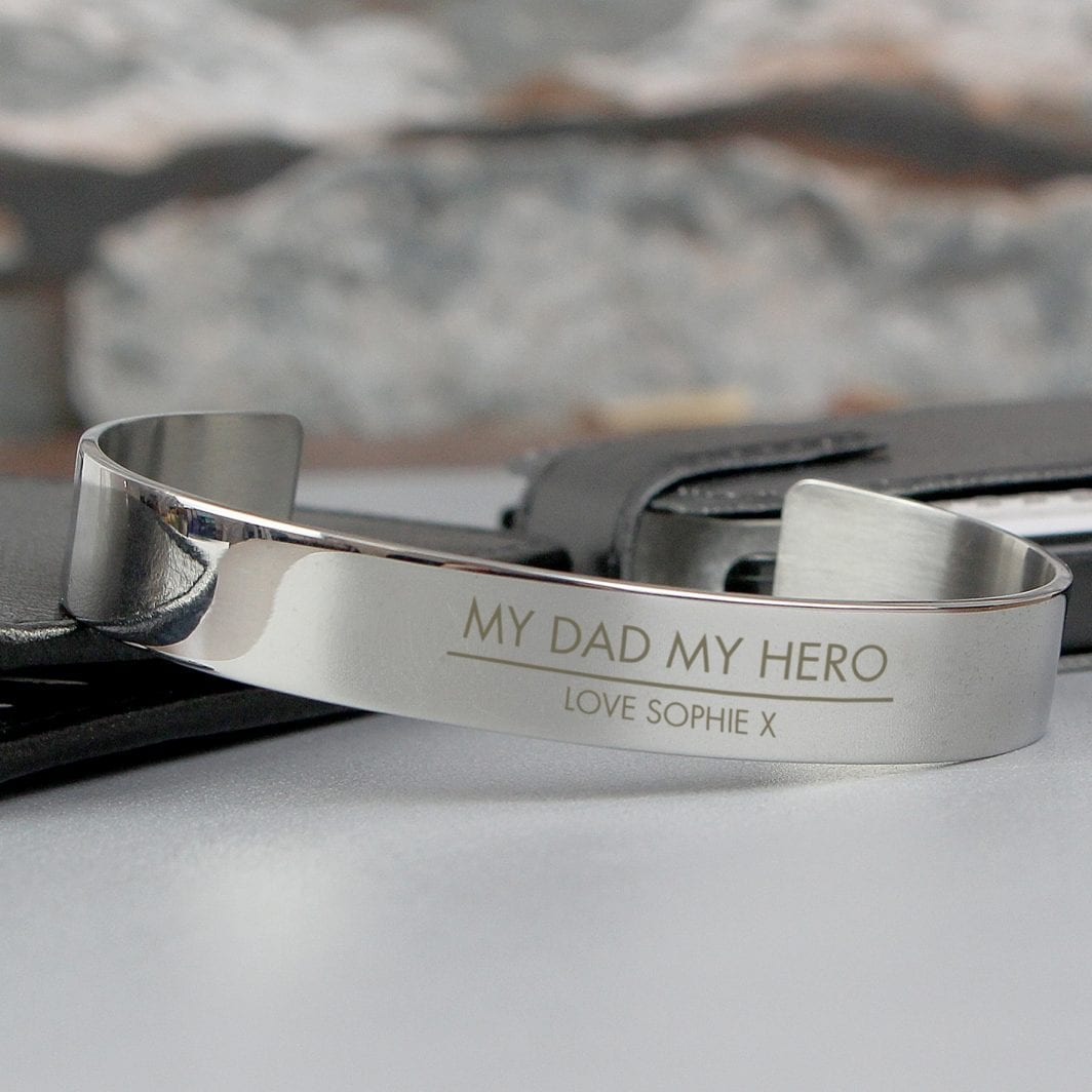 plushbarn personalised gifts for him Personalised Classic Stainless Steel Bangle