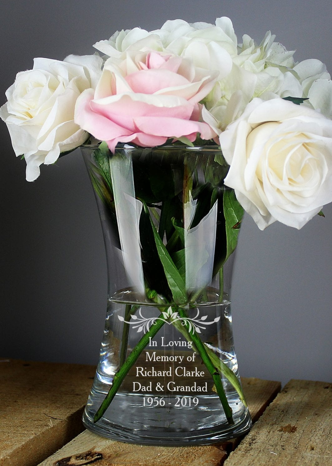 plushbarn personalised gifts for her glass vase