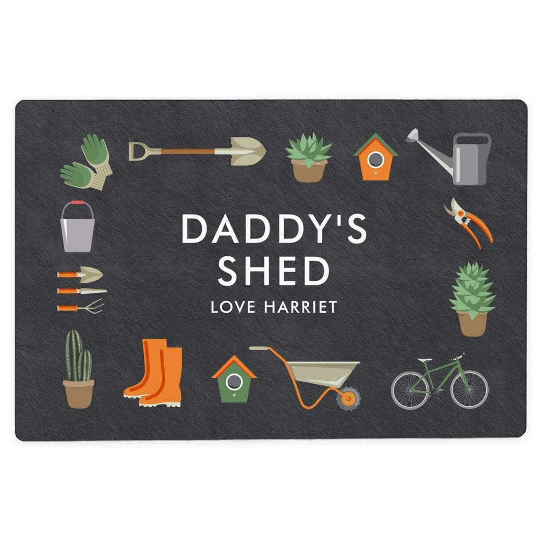 plushbarn personalised gifts for him her Personalised Gardening Metal Sign - Perfect Sign for Garden or Shed Gift - Gift For Him - Man Shed Sign