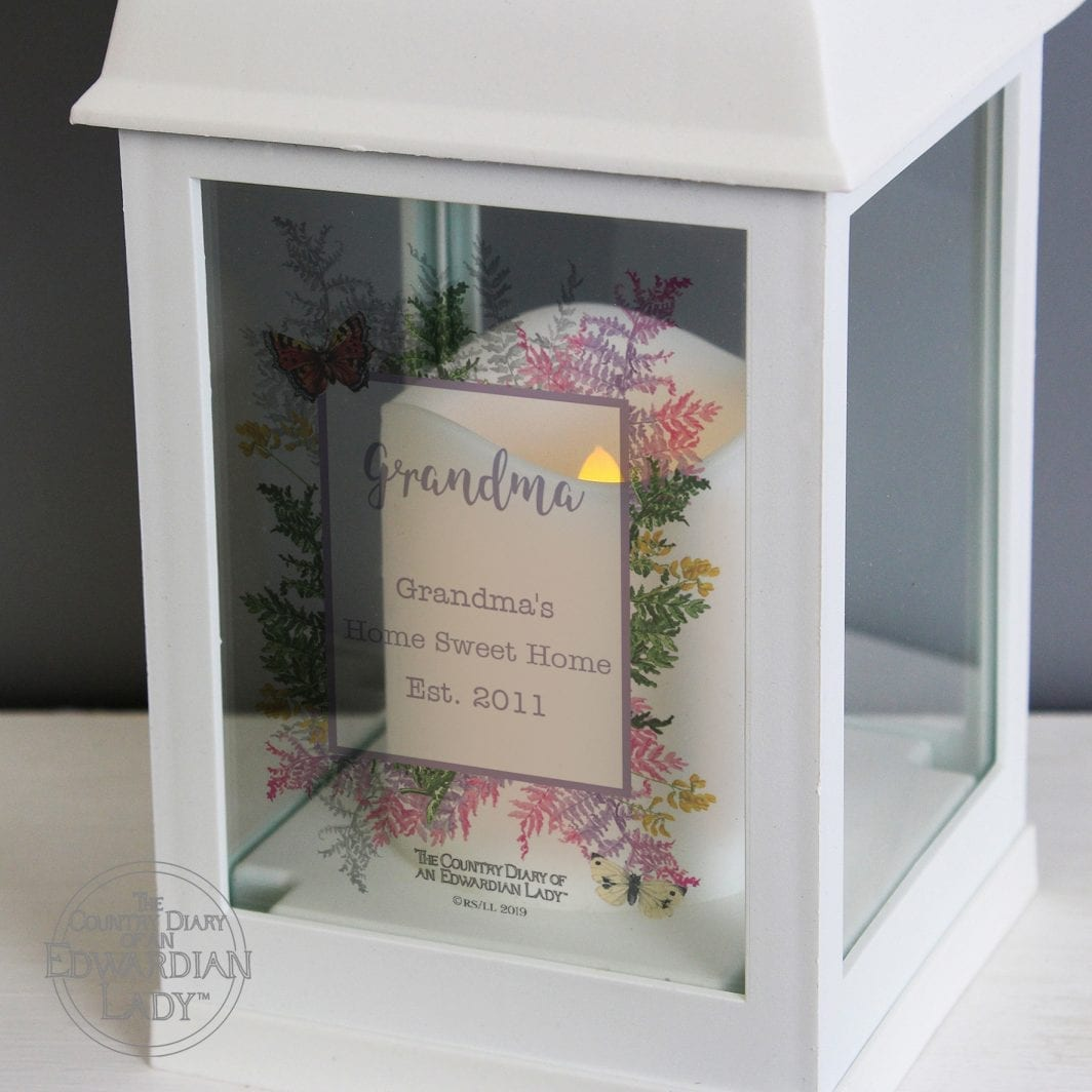plushbarn personalised gifts for her Personalised Country Diary Botanical White Lantern