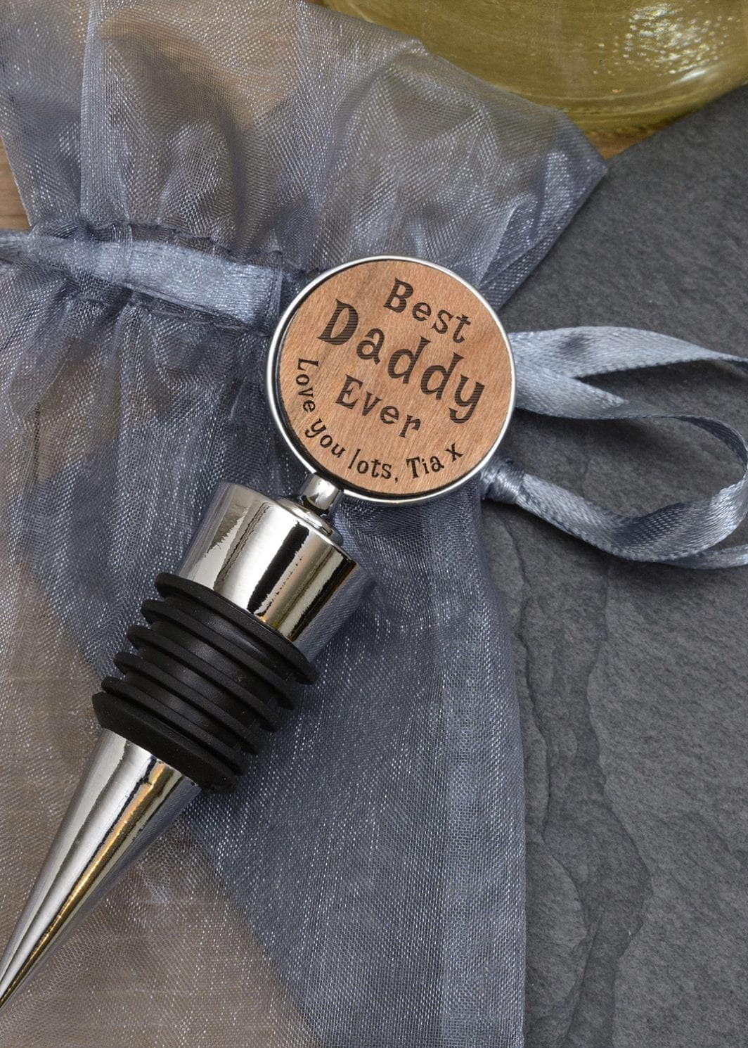 plushbarn personalised gifts plush barn bottle stopper for mummy daddy him her