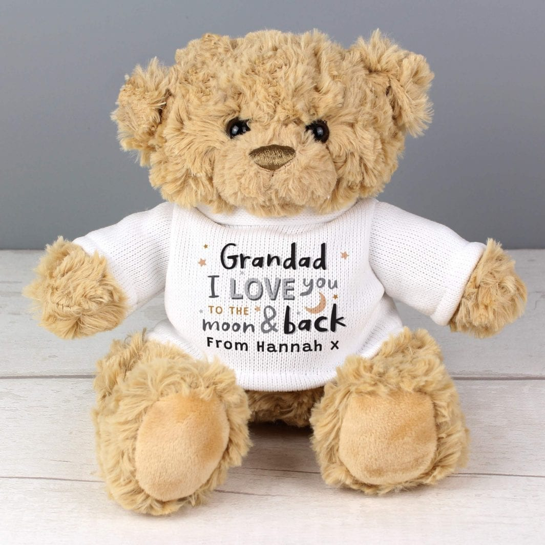 plushbarn personalised gifts plush barn Personalised To the Moon and Back Teddy Bear